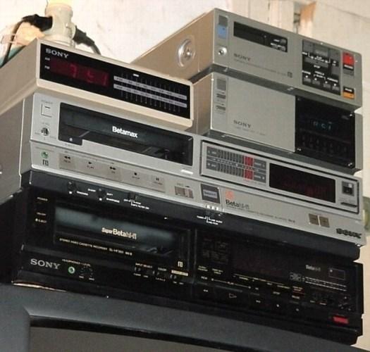 Altes betamax Equipment Sony