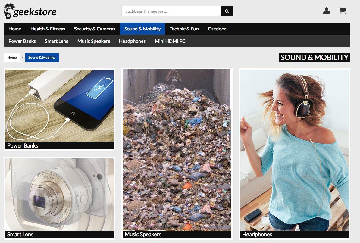 Plastik Müll im Geekstore von Hartlauer