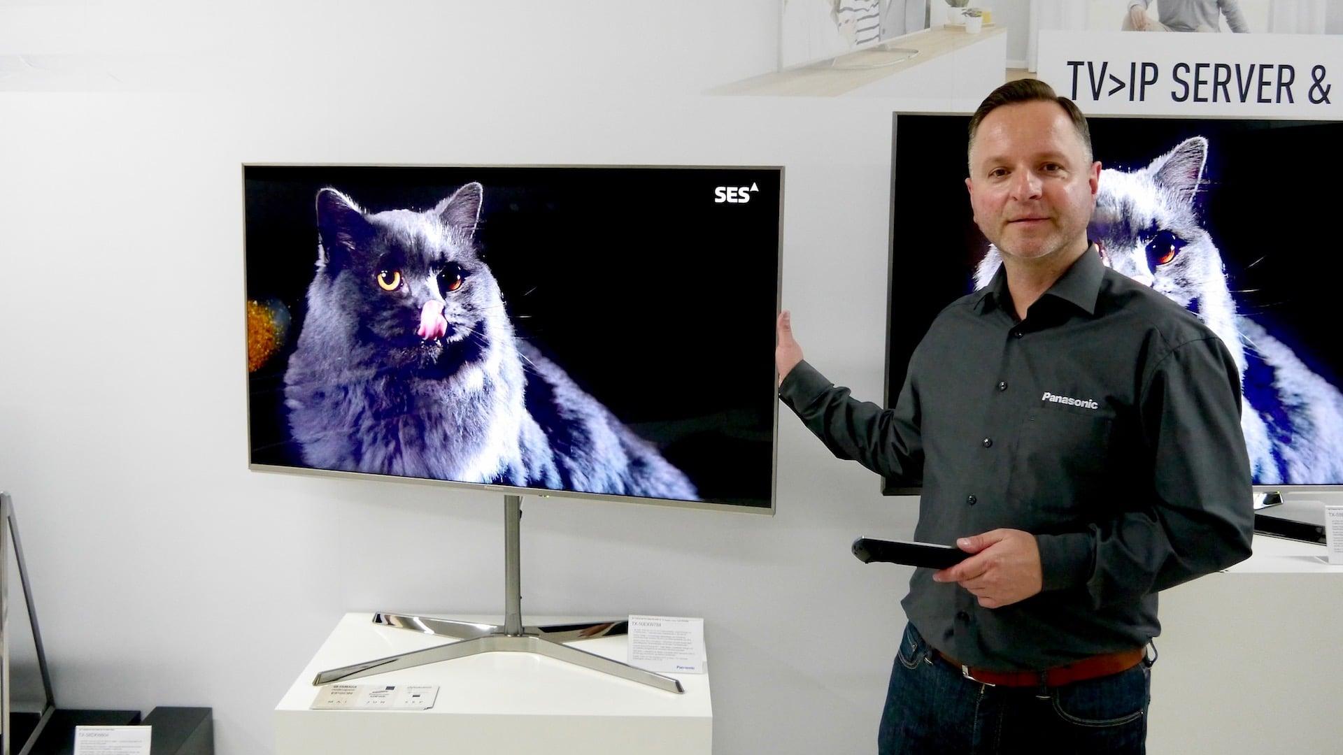 TV Vorführung bei Panasonic