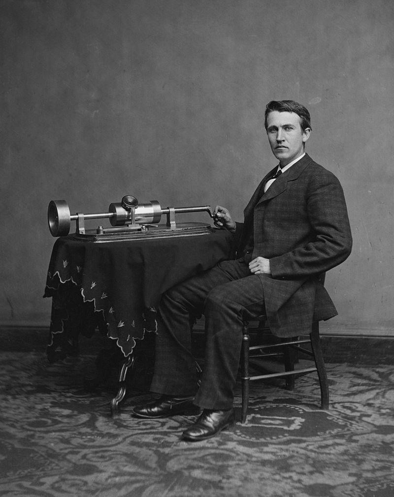 Edison und sein Phonograph