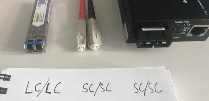 Anschlüsse von Lichtwellenleitern