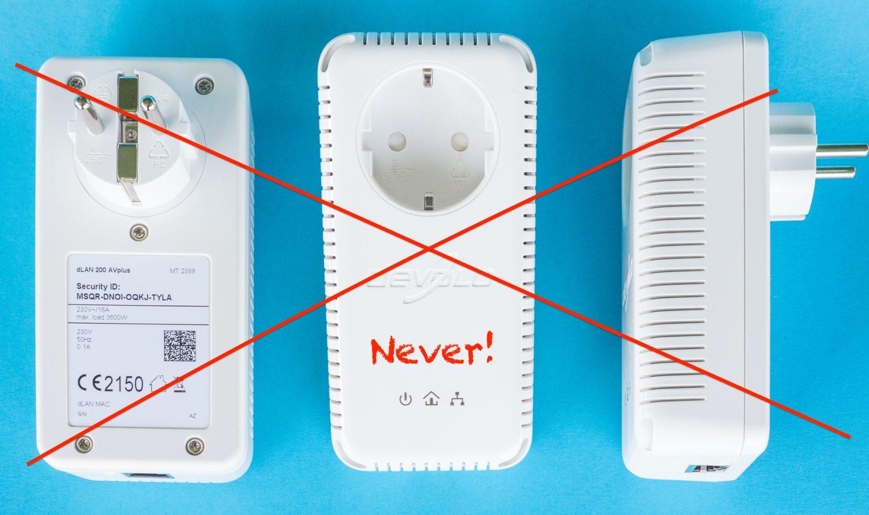 Powerline-Adapter nicht empfohlen